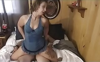 Damon's sister Scarlett ties him up while he is s. wakes him to be wild about