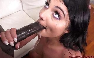 Smokin' hot Adria likes sloppy, passionate sex and monster black cocks