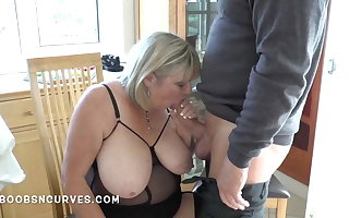 Older busty unsubtle together quiet loves a big horseshit close by her