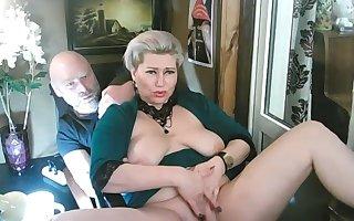 Spread your feet wider, my lustful mommy-bitch!