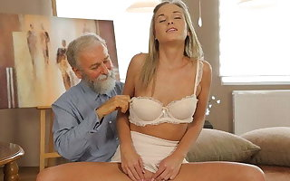 VIP4K. Sex of age-old lecturer and sexy chick ends in fabulous cumshot