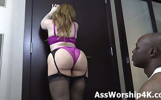 Worshiping Mistress Lily Lane's perfect ass