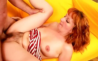 Hairy Ginger Mature First Time Rough Anal Sex by Step Nipper