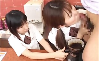 Japanese Girls Coffee and Creamed