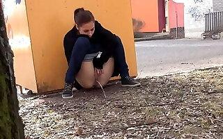 Public Pissing In The City With Antonia Sainz