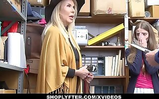 ShopLyfter - Granddaughter (Samantha Hayes) Together with Grandmother (Erica Lauren) Duo Fuck LP Officer After Getting Caught