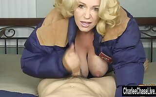 Light-complexioned MILF Charlee Chase Winter Jacket Blowjob!